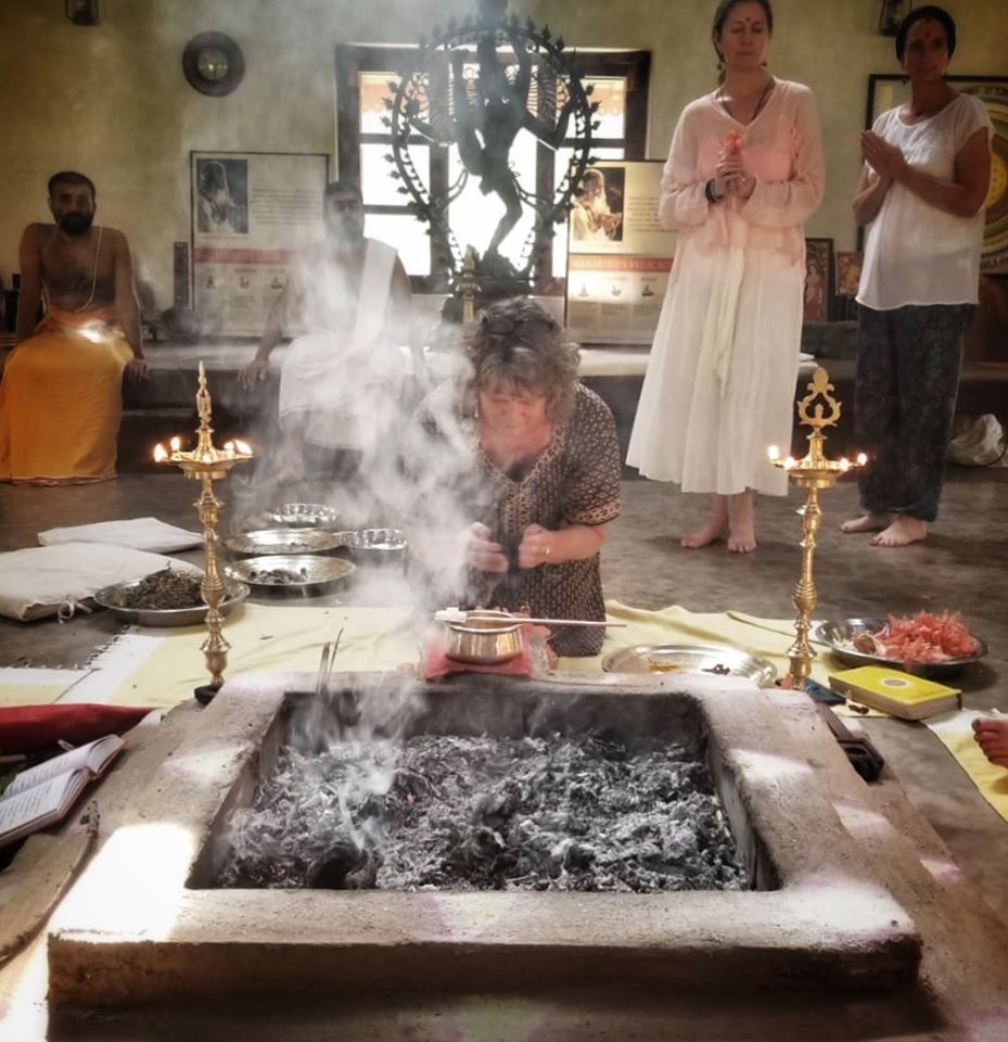 Fire ceremony in India to celebrateJules Wright's birthday